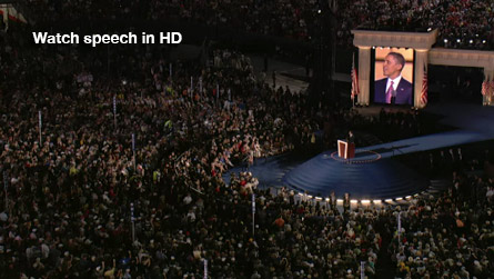 Watch Obama's speech in HD.