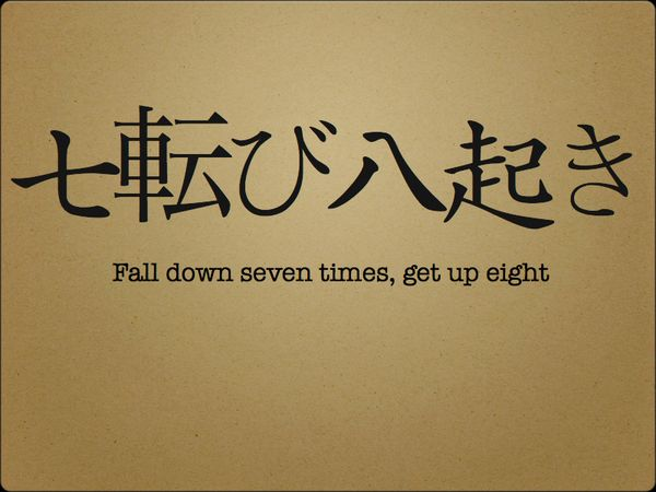 Presentation Zen: Fall down seven times, get up eight: The